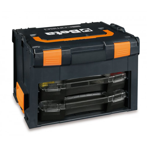 Skrzynka narzędziowa COMBO, wykonana z ABS z 2 wyjmowalnymi walizkami narzędziowymi Beta 9900/C99V3/2C