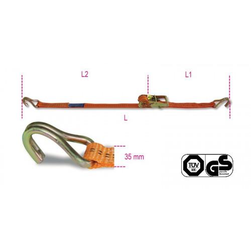 Komplet 4 pasów mocujących z napinaczem zapad. LC100KG Beta 8181/6/S4