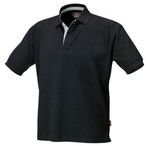 Koszulka polo bawełniana czarna Beta 7546N