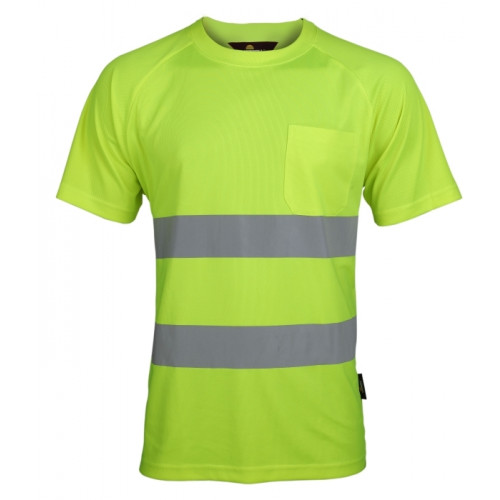 T-shirt ostrzegawczy żółty Coolpass Vizwell VWTS01-AY