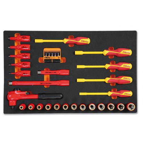 Zestaw 36 narzędzi w miękkim wkładzie profilowanym Beta 2450/M110