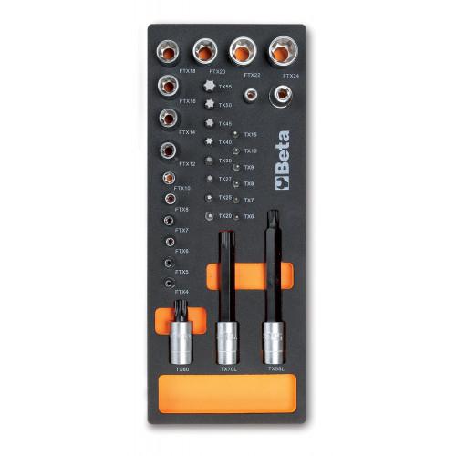 Zestaw narzędzi 32szt.w miękkim wkładzie profilowanym Beta 2450/M112