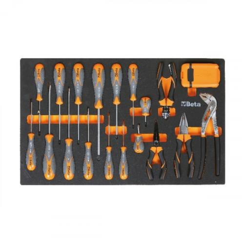 Zestaw 49 narzędzi w miękkim wkładzie profilowanym Beta 2450/M166