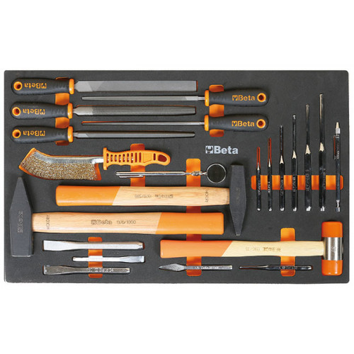 Zestaw 22 narzędzi w miękkim wkładzie profilowanym Beta 2450/M231