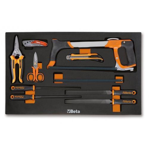 Zestaw 9 narzędzi w miękkim wkładzie Beta 2450/M284
