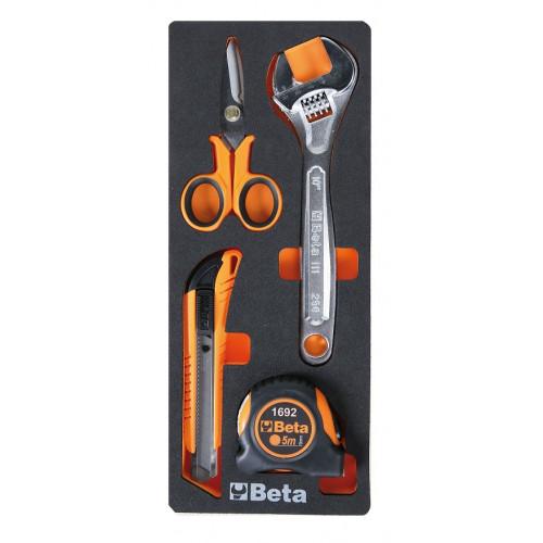 Zestaw 4 narzędzi w miękkim wkładzie Beta 2450/M292