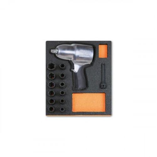"""Klucz udarowy 1/2"""" z nasadkami w miękkim wkładzie Beta 2450/M305"""