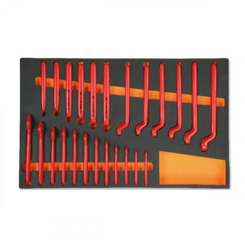 Zestaw 24 kluczy w izolacji do 1000V we wkładzie Beta 2450/M49