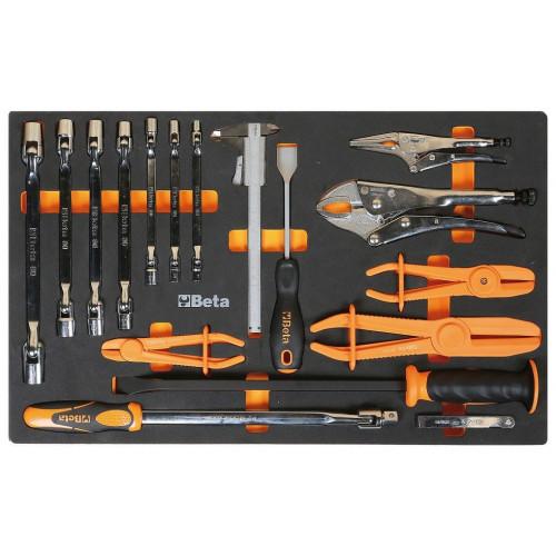 Zestaw 17 narzędzi w miękkim wkładzie Beta 2450/M78