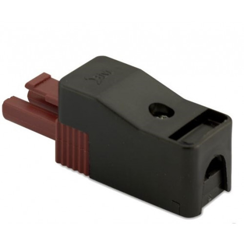 Wtyk szybkozłączki elektrycznie wzmocnionej 2P brązowy (50szt.) 2.5mm2 z obudową BM Group BMM9023