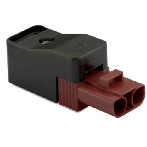 Gniazdo szybkozłączy 2P elektrycznie wzmocnione 2.5mm2 brązowe (50szt.) z obudową BM Group BMM9024