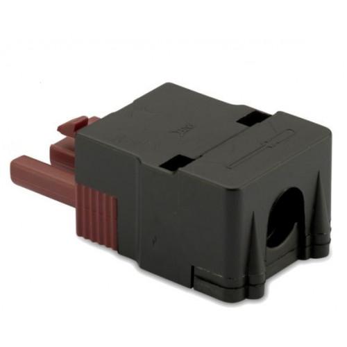 Wtyk szybkozłączki 3P elektrycznej wzmocnionej 2.5mm2 brązowej z obudową (50szt.) BM Group BMM9033