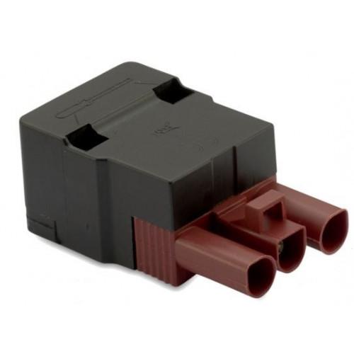 Gniazdo szybkozłączki elektrycznej wzmocnionej 3P brązowej 2.5mm2 z obudową (50szt.) BM Group BMM9034