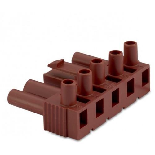 Wtyk szybkozłączki 5P elektrycznej wzmocnionej 2.5mm2 brązowej bez obudowy (50szt.) BM Group BMM9051