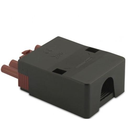 Wtyk szybkozłączki 5P elektrycznej wzmocnionej 2.5mm2 brązowej z obudową (50szt.) BM Group BMM9053