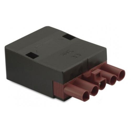 Gniazdo szybkozłączki elektrycznej wzmocnionej 5P brązowe 2.5mm2 z obudową (50szt.) BM Group BMM9054