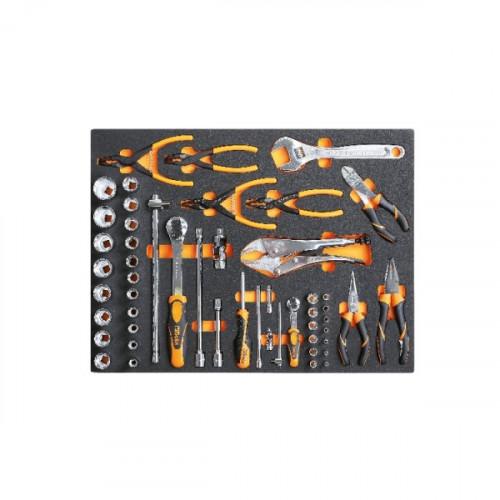 Zestaw 52 narzędzi w miękkim wkładzie profilowanym Beta 2450/MB37