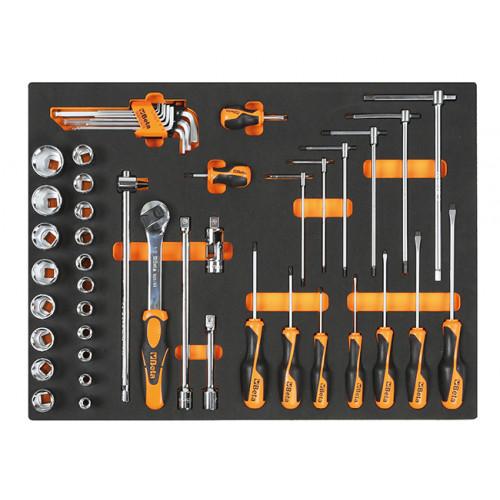Komplet 48 narzędzi w miękkim wkładzie profilowanym Beta 2450/MB47