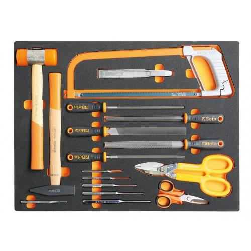 Zestaw 17 narzędzi w miękkim wkładzie Beta 2450/MB58