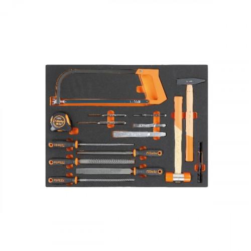 Zestaw 15 narzędzi we wkładzie profilowanym Beta 2450/MB59