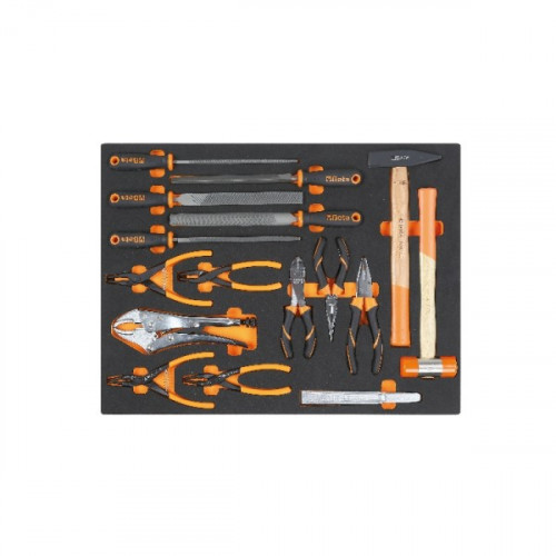 Zestaw 16 narzędzi w miękkim wkładzie profilowanym Beta 2450/MB65