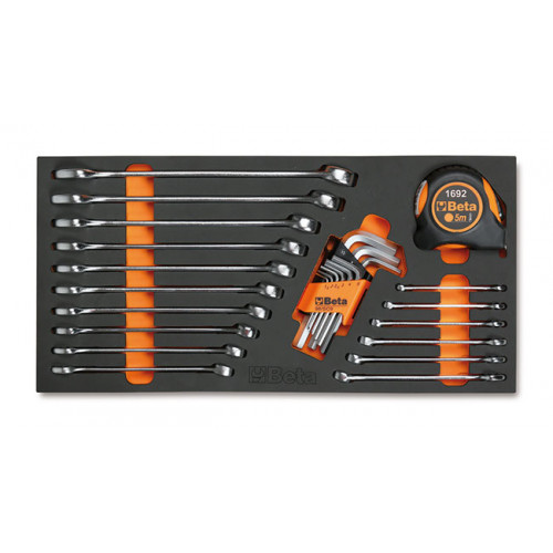 Zestaw 26 narzędzi w miękkim wkładzie profilowanym Beta 4150/MC11