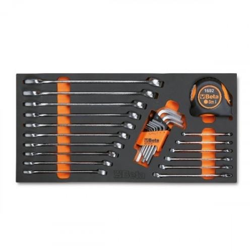 Zestaw 26 narzędzi w miękkim wkładzie profilowanym Beta 4150/MC12