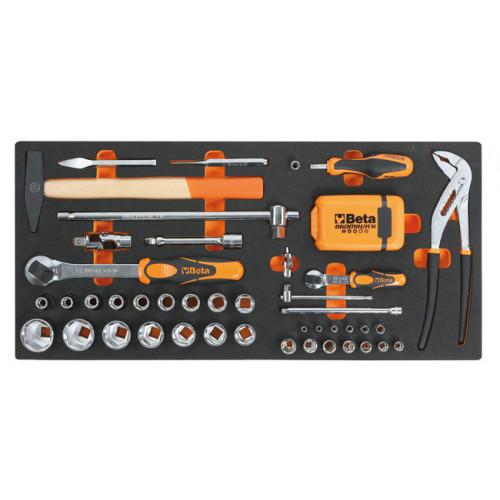 Zestaw 74 narzędzi w miękkim wkładzie Beta 2750/MC20