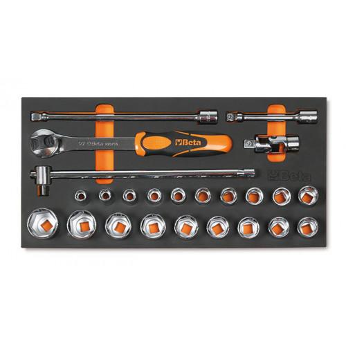 Zestaw 24 narzędzi w miękkim wkładzie profilowanym Beta 4150/MC21