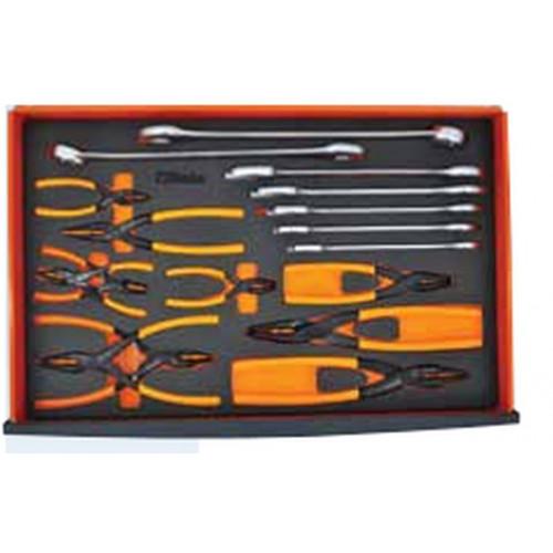 Zestaw 17 narzędzi w miękkim wkładzie Beta 2450/MC6PL