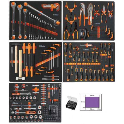 Zestaw 271 narzędzi Easy we wkładach profilowanych do mebli C45M5 i C45M7