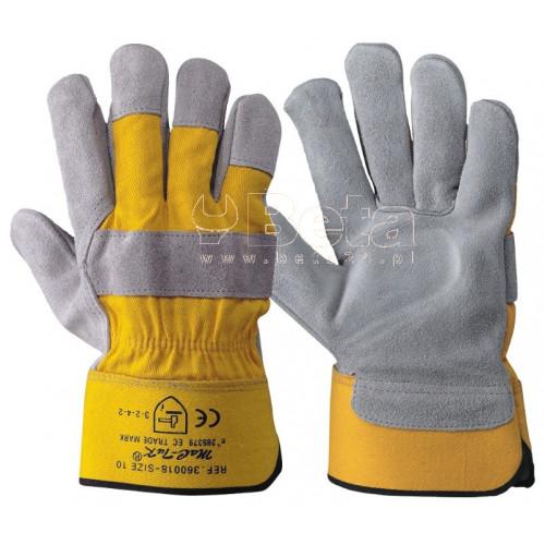 Rękawice P85 z oddychającej dwoiny bydlęcej i płótna MAC-TUK 360018/10