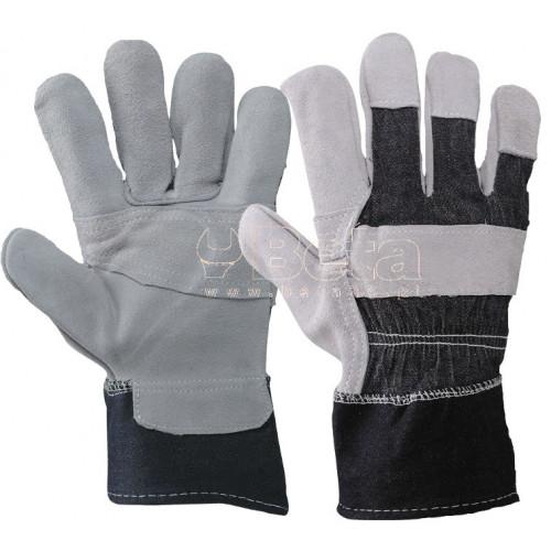 Rękawice 275RJ Z dwoiny skórzanej i płótna dżinsowego MAC-TUK 360022/10