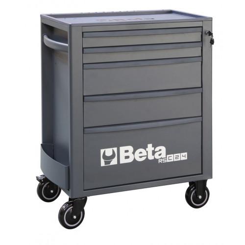 Wózek narzędziowy pusty z 5 szufladami antracytowy Beta 2400/RSC24/5-A