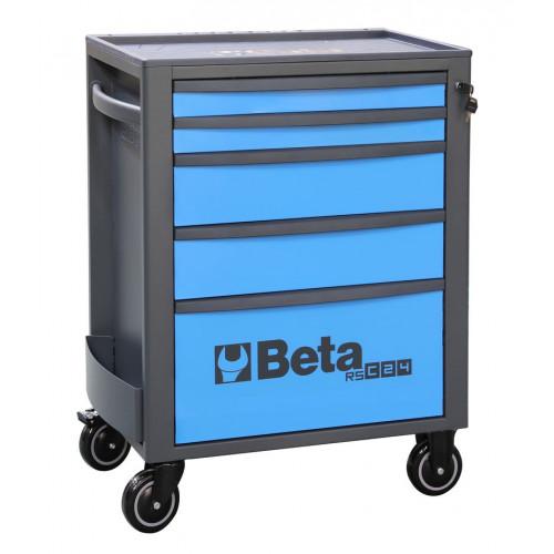 Wózek narzędziowy pusty z 5 szufladami niebiesko-szary Beta 2400/RSC24/5-A