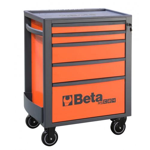 Wózek narzędziowy pusty z 5 szufladami pomarańczowy Beta 2400/RSC24/5-FO