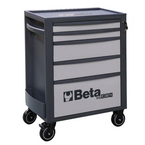 Wózek narzędziowy pusty z 5 szufladami szaro-antracytowy Beta 2400/RSC24/5-G