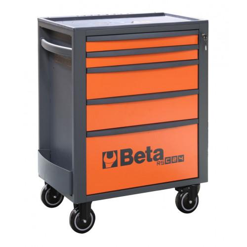 Wózek narzędziowy pusty z 5szufladami pomarańczowo-szary Beta 2400/RSC24/5-O