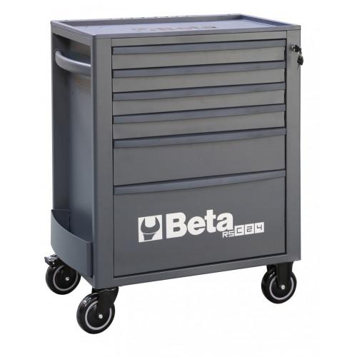 Wózek narzędziowy pusty z 6 szufladami antracytowy Beta 2400/RSC24/6-A