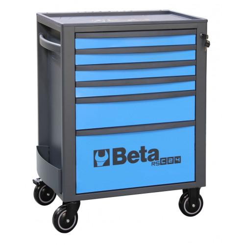 Wózek narzędziowy pusty z 6 szufladami niebiesko-szary Beta 2400/RSC24/6-B