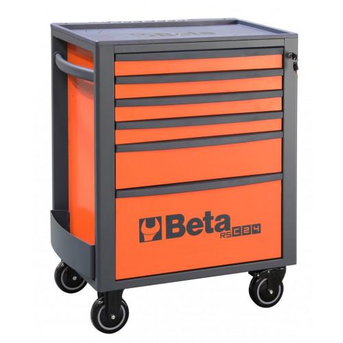 Wózek narzędziowy pusty z 6 szufladami pomarańczowy Beta 2400/RSC24/6-FO