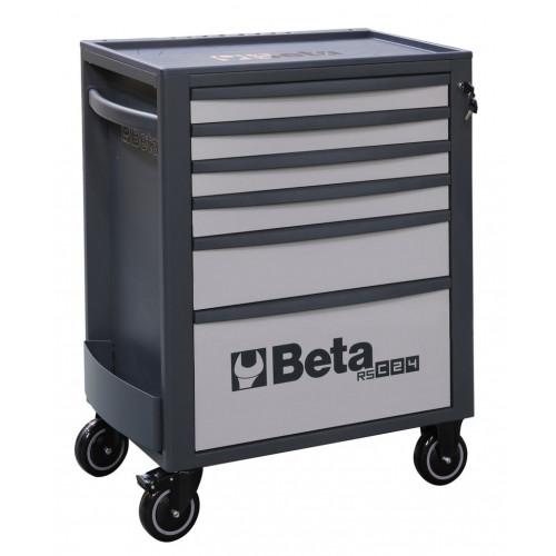 Wózek narzędziowy pusty z 6 szufladami szaro-antracytowy Beta 2400/RSC24/6-G