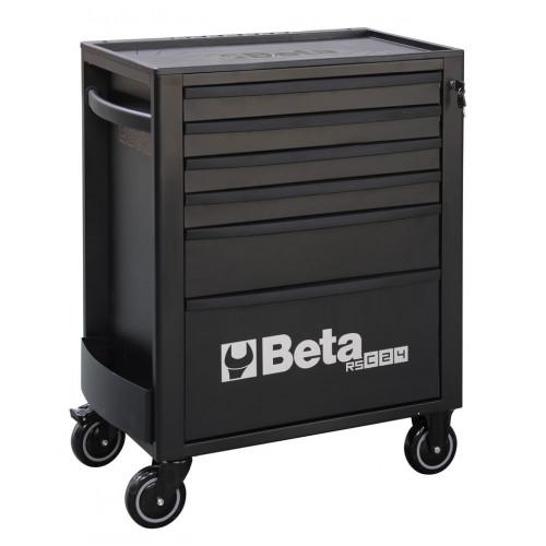 Wózek narzędziowy pusty z 6 szufladami czarny Beta 2400/RSC24/6-N