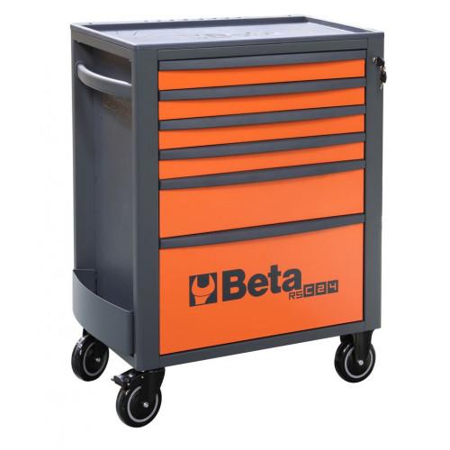 Wózek narzędziowy pusty z 6 szufladami pomarańczowo-szary Beta 2400/RSC24/6-O