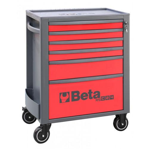 Wózek narzędziowy pusty z 6 szufladami czerwony Beta 2400/RSC24/6-R