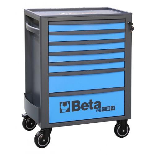 Wózek narzędziowy pusty z 7 szufladami niebiesko-szary Beta 2400/RSC24/7-B