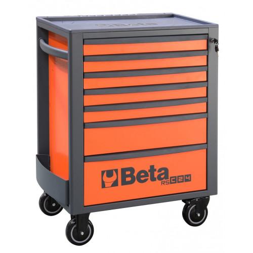Wózek narzędziowy pusty z 7 szufladami pomarańczowy Beta 2400/RSC24/7-FO