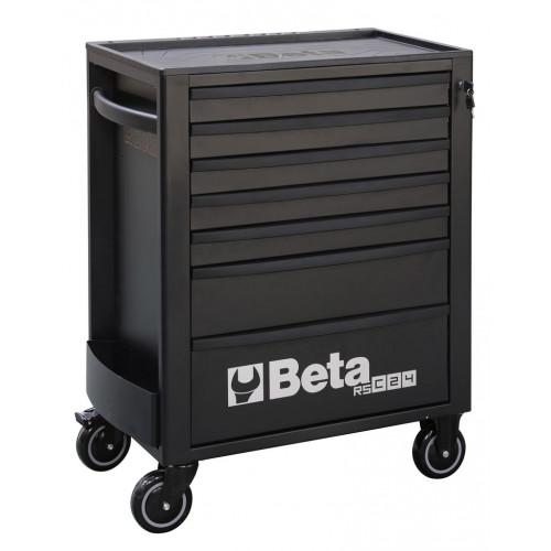 Wózek narzędziowy pusty z 7 szufladami czarny Beta 2400/RSC24/7-N
