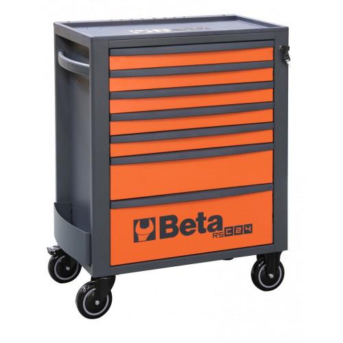 Wózek narzędziowy pusty z 7 szufladami pomarańczowo-szary Beta 2400/RSC24/7-O