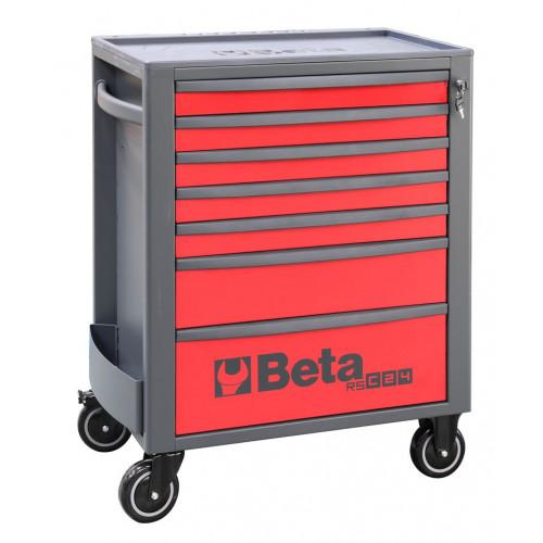 Wózek narzędziowy pusty z 7 szufladami czerwono-szary Beta 2400/RSC24/7-R